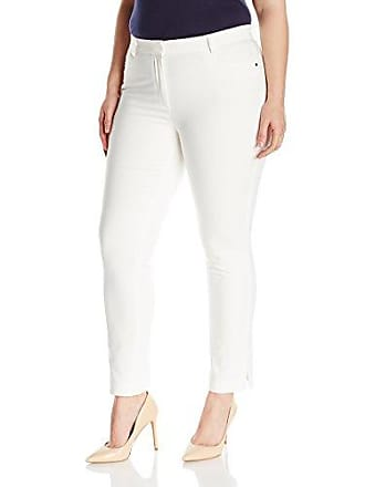 464d9d0e9 Rafaella Womens Plus Size Satin Twill Dress Pant, Snow White, 6