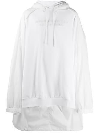 Juun.J Moletom oversized com capuz e bordado - White