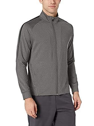 Amazon Essentials Mens Performance Track Jacket, Charcoal Grey Heather, Medium