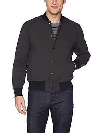 Joe's Mens Jackson High Terry Letterman, Matte Black, XL