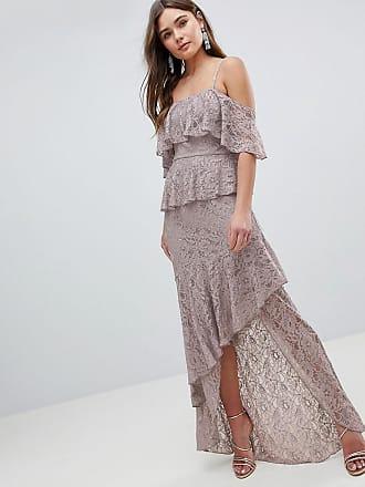 a899454330c Asos ASOS Multi Layer Lace Ruffle Cami Maxi Dress