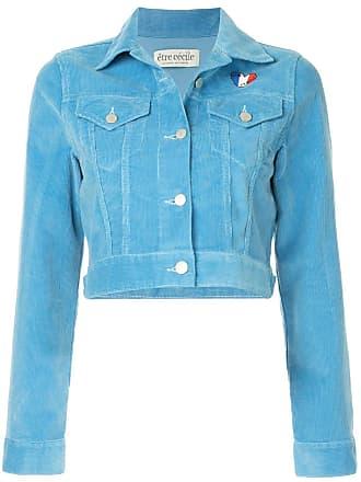être cécile cropped corduroy jacket - Blue