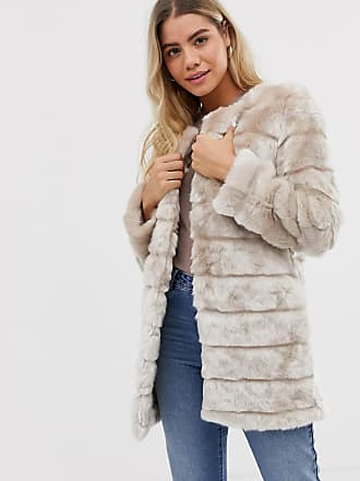 Urban Bliss Maisy - Cappotto lungo in pelliccia sintetica-Beige