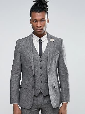 Harry Brown Kostymjacka i ullblandning och smal passform - Grå 2b1175a895932