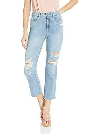 DL1961 Womens Jerry High Rise Straight Vintage Jeans, Santos 25