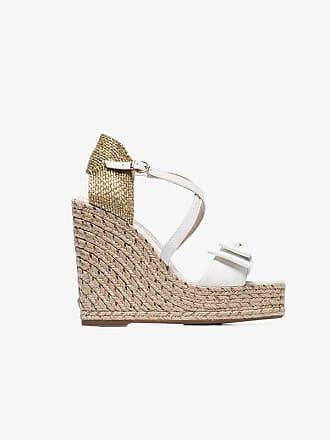 75fb97430fcd Sophia Webster White Bonnie 140 espadrille wedge sandals