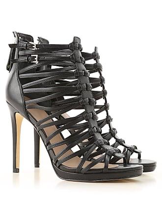 d4860d73de Guess Sandals for Women On Sale, Black, Leather, 2017, 10 5 7