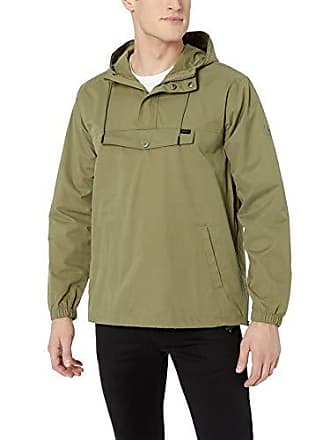 Rvca Mens ON Point Anorak Jacket, Fatigue XX-Large
