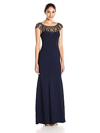 Xscape Womens Long Ity with Bead Top, Navy/Antique, 8
