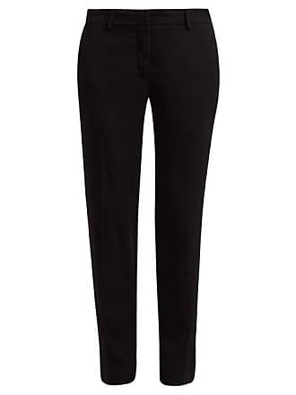 Rochas Ospert Stretch Crepe Trousers - Womens - Black