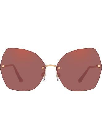 Dolce & Gabbana Eyewear oversized sunglasses - Dourado