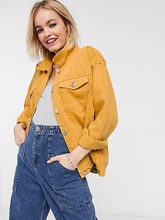Monki Giacca di jeans oversize-Giallo