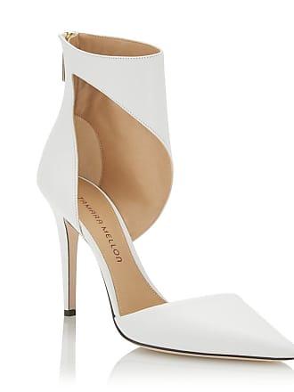 Tamara Mellon Belle White Vitello Pumps, Size - 35.5