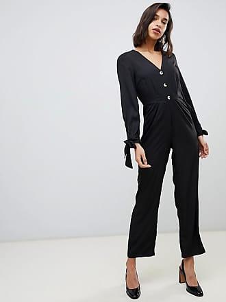 Vero Moda 3/4 tie sleeve jumpsuit - Black