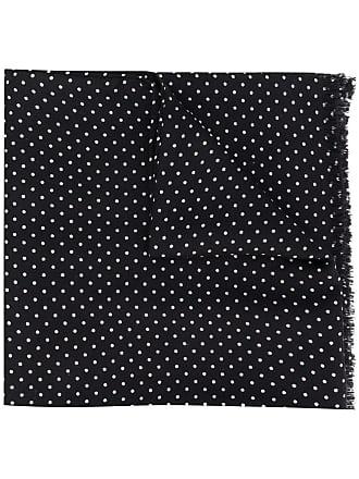 Tom Ford frayed polka dots scarf - Black