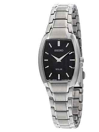 Seiko Solar Black Dial Stainless Steel Ladies Watch SUP259