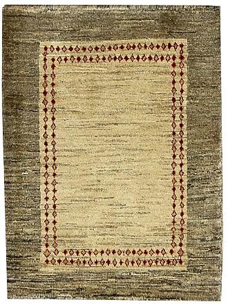 Nain Trading 88x66 Persian Gabbeh Loribaft Rug Modern/Design Brown/Pink (Hand-Knotted, Wool, Iran/Persia)