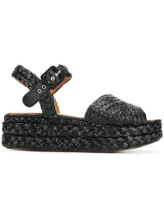 Robert Clergerie Aude woven sandals - Black