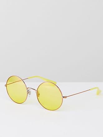 Ray-Ban Ray Ban - Lunettes de soleil rondes avec verres jaunes - Jaune edfb023b1b0c
