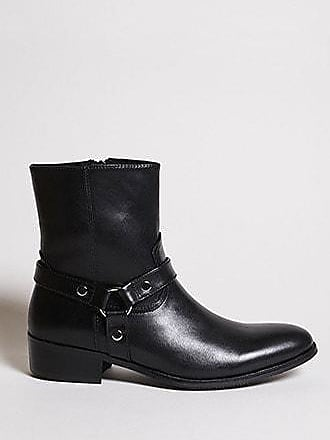 21 Men Men Foundation Horsebit Boots at Forever 21 Black