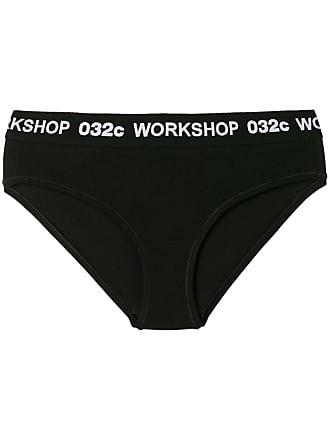 032c logo waistband briefs - Black