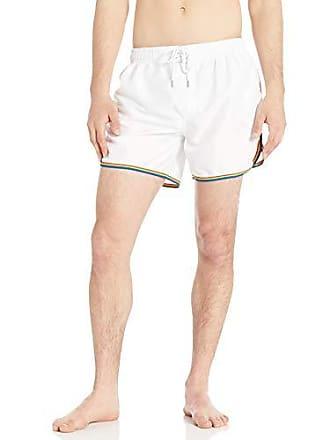 d7e6ecc91a5bb 2(x)ist Mens Pride Ibiza Swim Trunk Swimwear, Rainbow/White,
