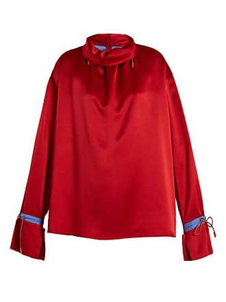 Roksanda Ilincic Archer Silk Satin Blouse - Womens - Red