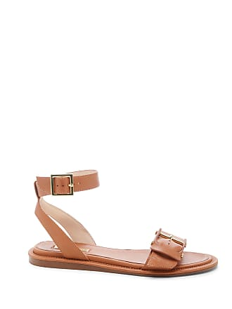 Louise et Cie Womens Benue Overd Buckle Flats Hazelnut Size 6 Leather From Sole Society