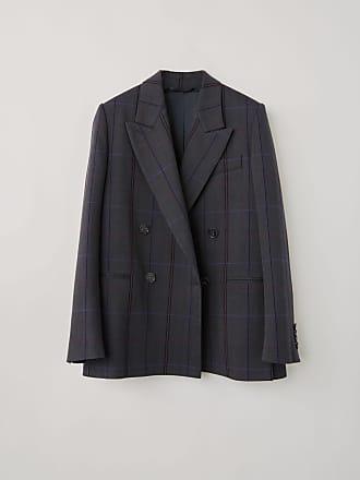 Acne Studios FN-WN-SUIT000069 Grey/purple Double-breased blazer