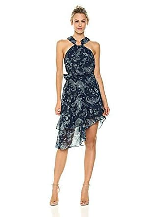 Keepsake the Label Womens Go with It Paisley Print Halter Dress, Navy, Small