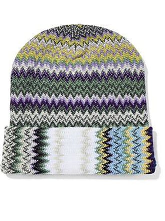 ccc9b9e0de6 Missoni Missoni Woman Crochet-knit Wool-blend Beanie Light Green Size