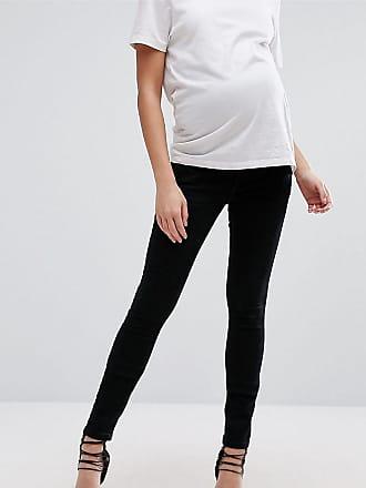 Asos Maternity ASOS DESIGN - Mammakläder - Tall - Ridley - Svarta skinny  jeans med midjeband 8c97ec957b876