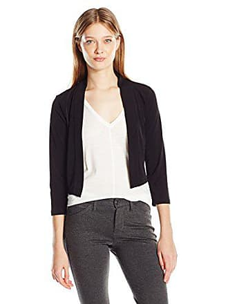 Calvin Klein Womens Basic Jersy Shrug, Black, Small