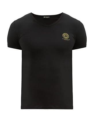 0b1204a125 Versace T-shirt en jersey à col en V et imprimé Medusa