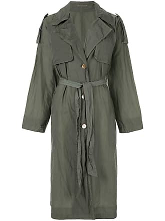 4c765fed0 Blueflag + Kiminori Morishita Trench coat com abotoamento simples - Verde
