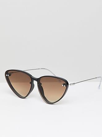 0dad785c4c Spitfire Gafas de sol estilo ojos de gato en negro con lentes marrones de  Spitfire