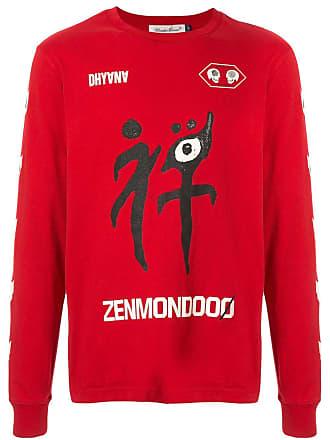 Undercover Blusa com estampa gráfica - Vermelho