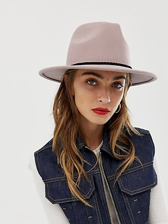 ceb188ef068 Asos felt panama hat with plait braid trim and size adjuster
