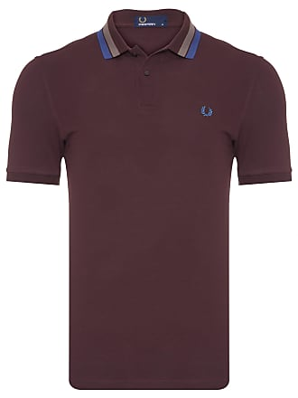 Fred Perry POLO MASCULINA BOLD TIPPED - MARROM