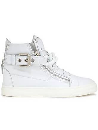 9fde07b598c Giuseppe Zanotti Giuseppe Zanotti Woman London Chain-embellished Leather  High-top Sneakers White Size