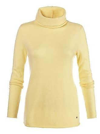e1c1e9375889 Madeleine Kaschmir Kaschmir-Pullover mit Stehkragen Damen vanille   gelb