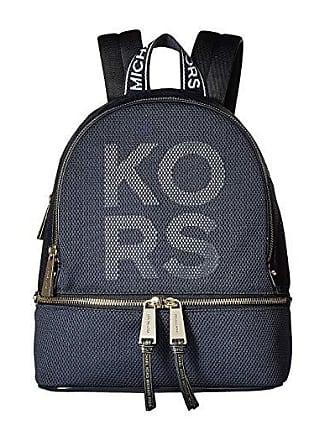 61cbe0089 Michael Kors Rhea Zip Medium Backpack (Admiral/Optic White) Backpack Bags