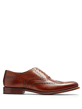 8b8deb91f0a Grenson Dylan Leather Brogues - Mens - Brown
