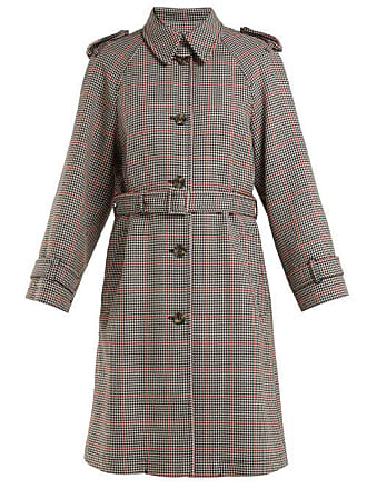 Red Valentino Redvalentino - Houndstooth Trench Coat - Womens - Red Multi