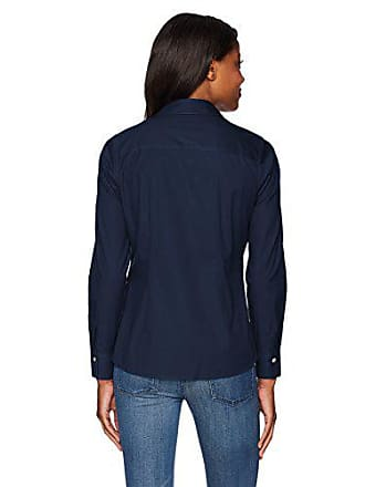 Foxcroft Womens Ellen Non Iron Stretch Shirt, Navy, 10