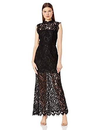 BB Dakota Juniors Moonlight Drive lace Gown, Black, 10