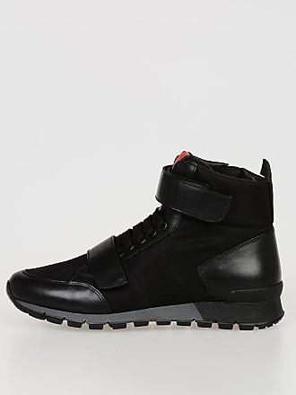 d5a3b9f998cf Prada Leather and Fabric High Sneakers size 5,5
