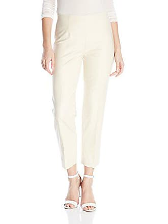 Nic+Zoe Womens Perfect Ankle Pant with Side Zip, Sand Shell, 14