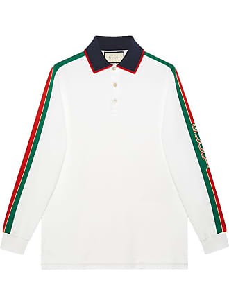d80ae5c49b Gucci Camisa polo com listra Gucci - Branco