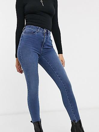 Only Petite Enge Jeans mit hohem Bund-Blau